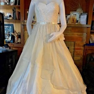 Designer BeBe Wedding Dress .Org. $1300 NWT DEFECT